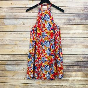 NWOT- AEO High-Neck w/ Low Back Floral Dress